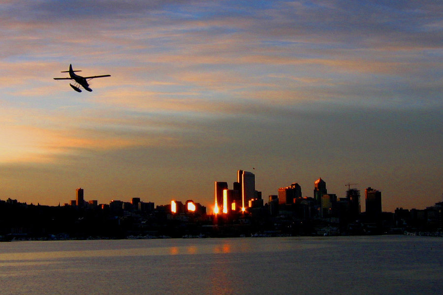 lake_union_sunrise_seaplane_by_dsiegel
